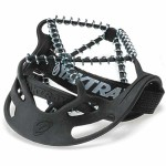 Yaktrax Pro folded to fit in pocket or bag