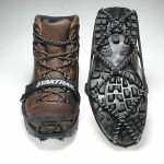 Yaktrax Pro on walking boots
