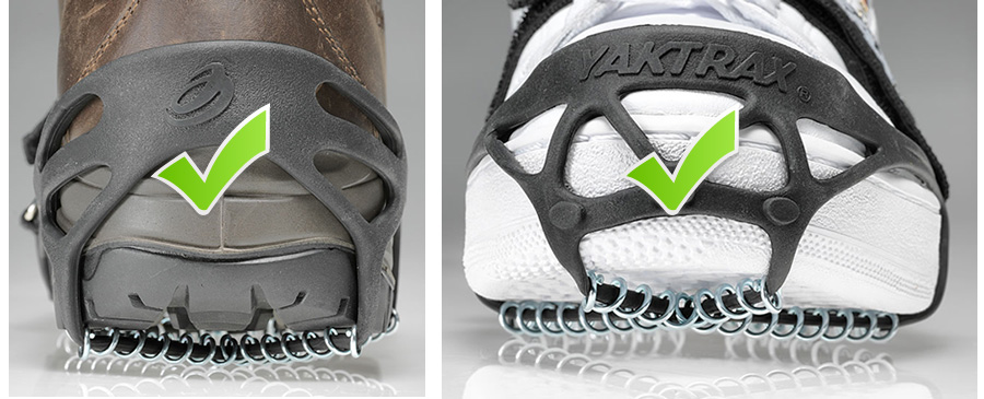 Wearing Yaktrax® correctly